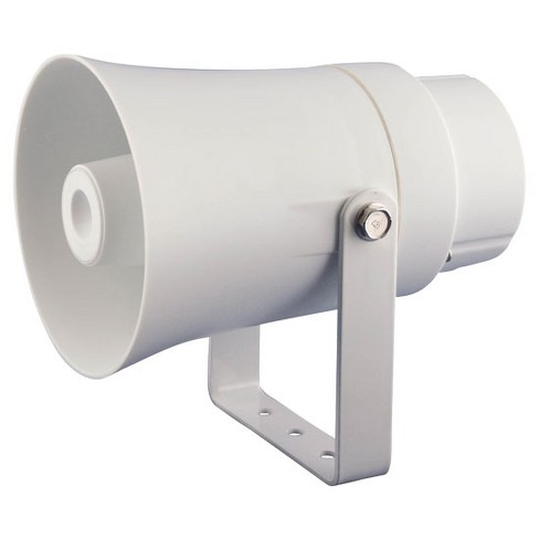 PYLE Aluminum 5.6 Inch Indoor and Outdoor PA Horn Speaker 70 Volt 8 Ohms, White - image 1 of 1