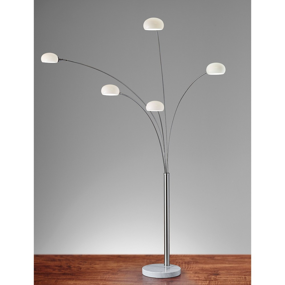 Image of Adesso Luna Arc Lamp - Silver