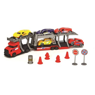 Dickie Toys Transporter Set with 5 Diecast Cars
