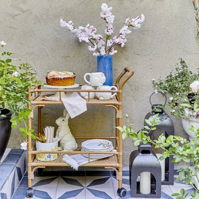 Easter Decorating Outdoor Coffee Cart Styled by Emily Henderson