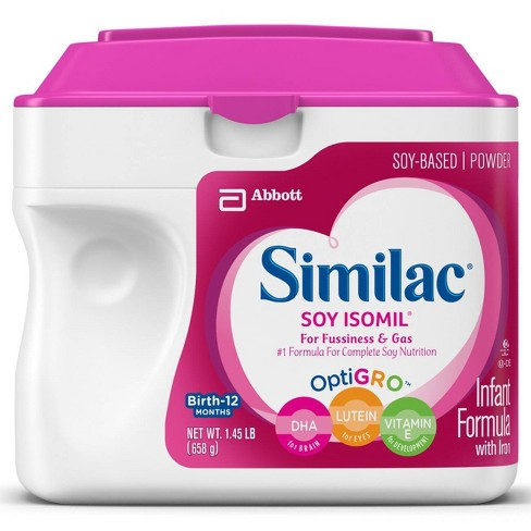 Similac Soy Isomil For Fussiness and Gas Infant Formula with Iron Powder - 22.5oz - image 1 of 4