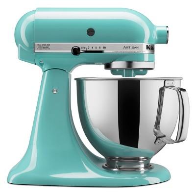 KitchenAid Refurbished Artisan Series 5qt Stand Mixer - Aqua RRK150AQ