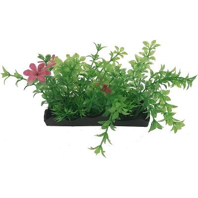 Penn-Plax Aqua-Scaping Medium Green & Pink Bunch Plant-5 Piece PDQ