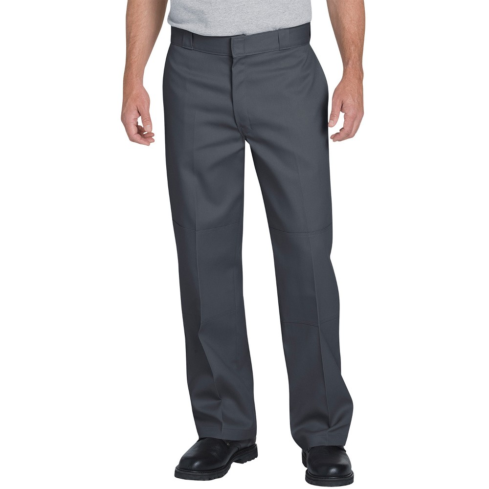 Dickies Men's Flex Loose Straight Fit Double Knee Work Pants - Gray 32x34