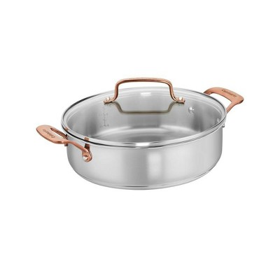 Cuisinart In the Mix 4qt Stainless Steel Come Gather Casserole Pan with Cover - 8255-26BZ