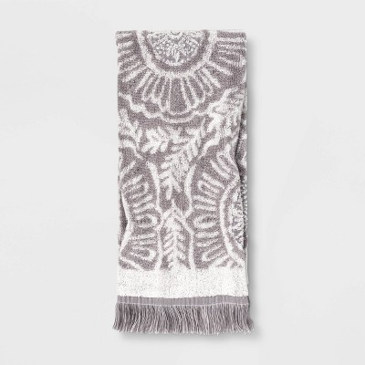 Hand Towel Gray/White - Opalhouse™