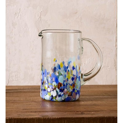 VivaTerra Riviera Recycled Glass Pitcher