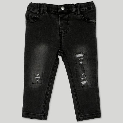 Afton Street Baby Boys' Distressed Jeans - Black 18M