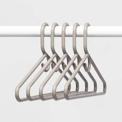 5pk Super Heavy Weight Hangers Gray - Room Essentials™