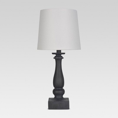 Turned Faux Wood Table Lamp Black Includes Energy Efficient Light Bulb - Threshold™
