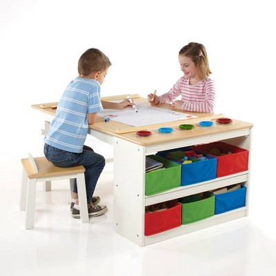 Kids' Arts and Activity Center White/Natural - Guidecraft