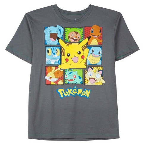 17ff72d3 Boys' Pokmon Graphic Short Sleeve T-Shirt - Charcoal Heather : Target