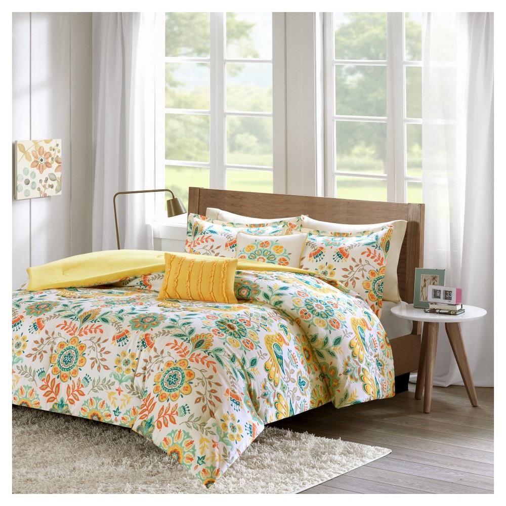 Eva Comforter Set (Full/Queen) 5pc - Multicolored