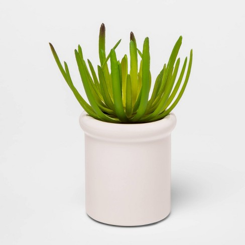 """7"""" x 3.7"""" Artificial Succulent in Pot White - Threshold™ - image 1 of 1"""