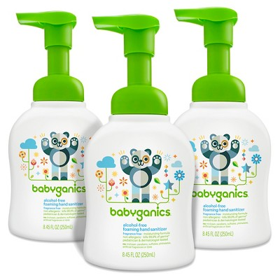 Babyganics Alcohol-Free Foaming Hand Sanitizer, Fragrance Free - 8.45oz Pump Bottle (3pk)