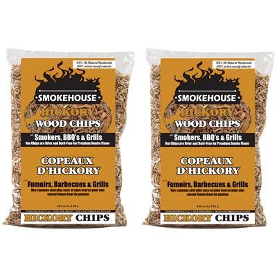 Smokehouse 9792-000-0000 Hickory BBQ Smoker & Grill Smoking 100 Percent Natural Hardwood Wood Chips, 1.75 Pound Bag (2 Pack)