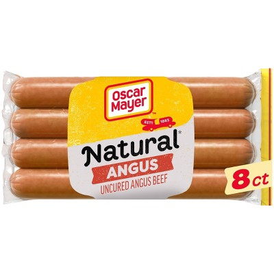 Oscar Mayer Selects Natural Angus Beef Uncured Beef Franks - 14oz/8ct