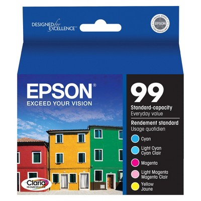 Epson 99 Color Combo 5pk Ink Cartridges - Cyan,Light Cyan,Magenta,Light Magenta,Yellow (T099920-CP)