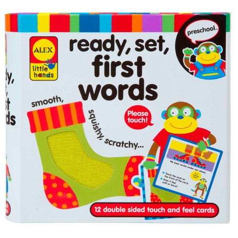 ALEX Toys Little Hands Ready, Set, Touch and Feel Flash Cards, First Words - image 1 of 3
