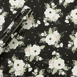 Floral Gift Wrap Black - Spritz™