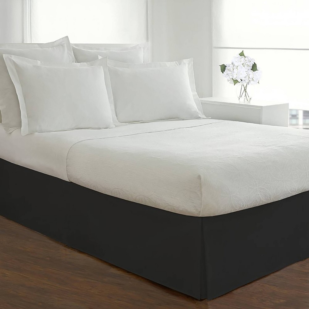 Image of Today's Home California King Microfiber Tailored Bed Skirt Black