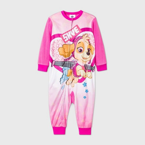 Toddler Girls' PAW Patrol Blanket Sleeper Pajama Jumpsuit - Pink - image 1 of 1