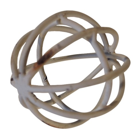 "Decorative Metal Ball White (3"") - VIP Home & Garden - image 1 of 2"