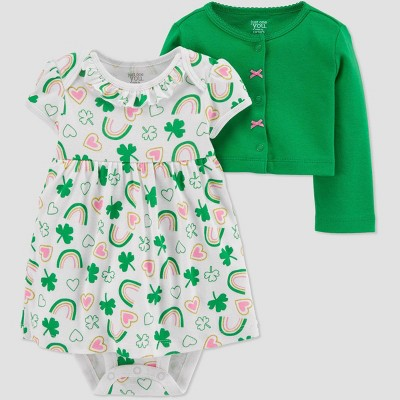 Baby Girls' 2pc Dress Set - Just One You® made by carter's Green Newborn