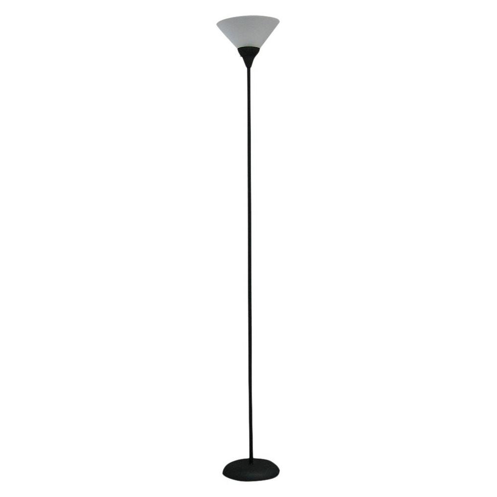 Torchiere Floor Lamp Black Includes Led Light Bulb Room Essentials 8482