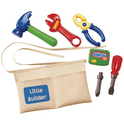 International Playthings Kidoozie My First Tool Belt, set of 6 Toy Tools