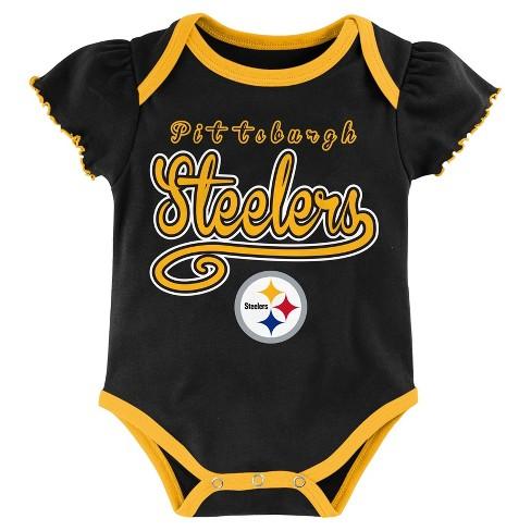 Pittsburgh Steelers Baby Girls  3pk Bodysuit Set   Target 4f42c0bc1