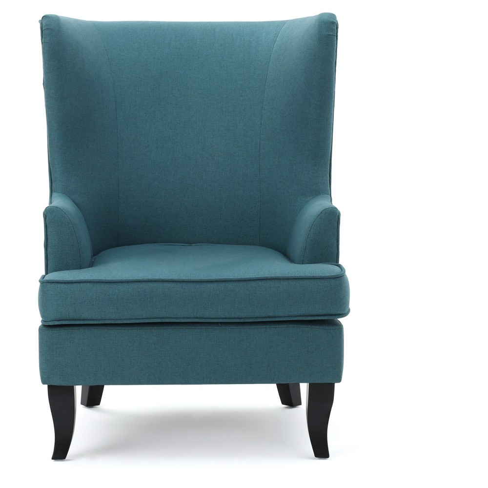 Canterbury Upholstered Wingback Chair - Teal (Blue) - Christopher Knight Home