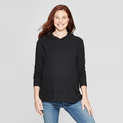 Maternity Nursing Hooded Swing Sweatshirt - Isabel Maternity by Ingrid & Isabel™ Black M