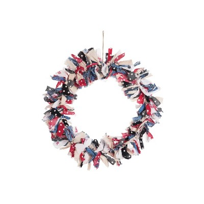 Gallerie II Freedom Rag Patriotic Wreath