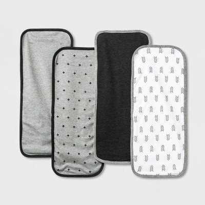 Baby Burp Cloth Set - Cloud Island™ Black/Gray
