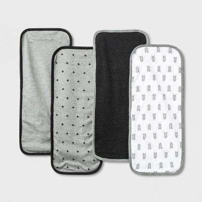 Baby Burp Cloth Set - Cloud Island™ Black/Gray