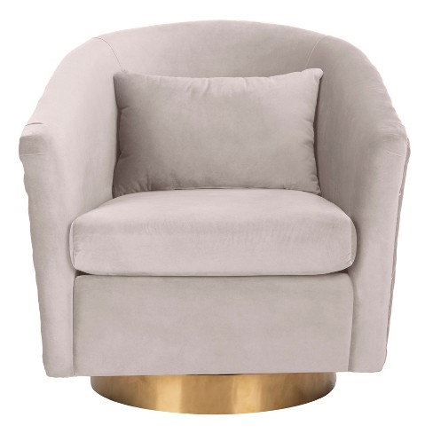 Amazing Clara Quilted Swivel Tub Chair Pale Taupe Safavieh Camellatalisay Diy Chair Ideas Camellatalisaycom