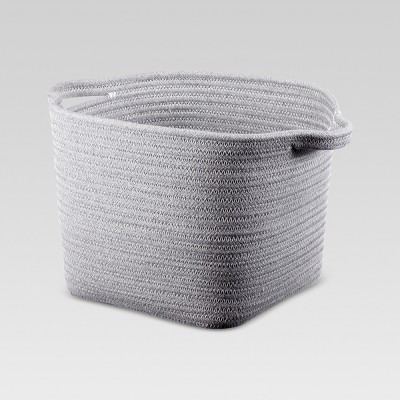 Coiled Rope Bath Basket Gray Medium - Threshold™