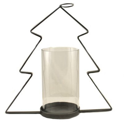 "Christmas 17.25"" Metal Christmas Tree Candle Holder  -  Candle Holders"