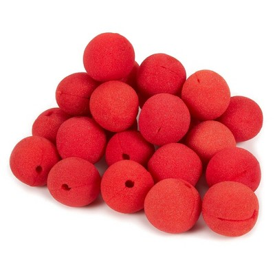 24-Pack of Clown Noses - Circus Themed Birthday Party Supplies, Foam Red Noses, Carnival Party Dress Up, Red - 2 x 2 x 2 inches