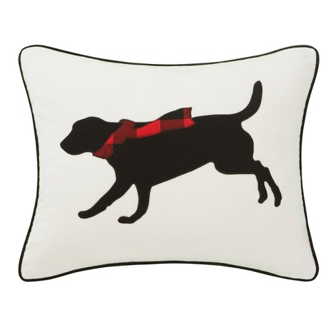 Winter Lab Breakfast Throw Pillow Charcoal - Eddie Bauer - image 1 of 3