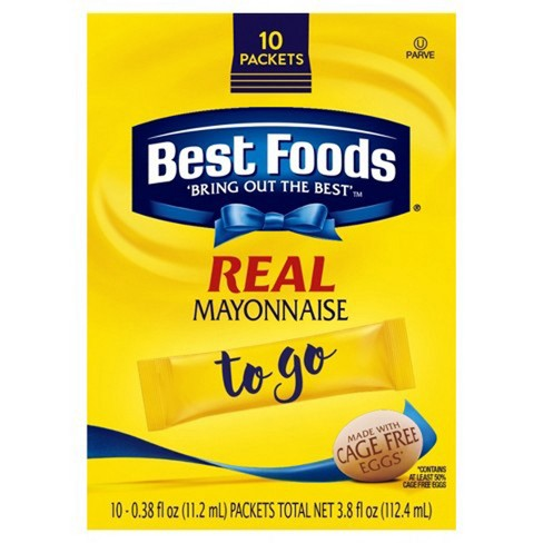 Best Foods To Go Packets Real Mayonnaise - 10ct - image 1 of 3