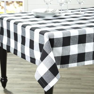 Lakeside Buffalo Check Tablecloth - Farmhouse Dining Table Cover