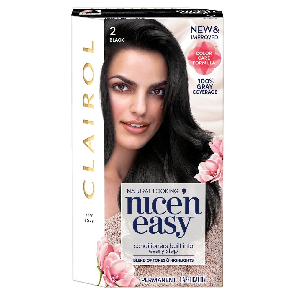 Image of Clairol Nice 'N Easy Permanent Hair Color - 2 Black - 1 Kit