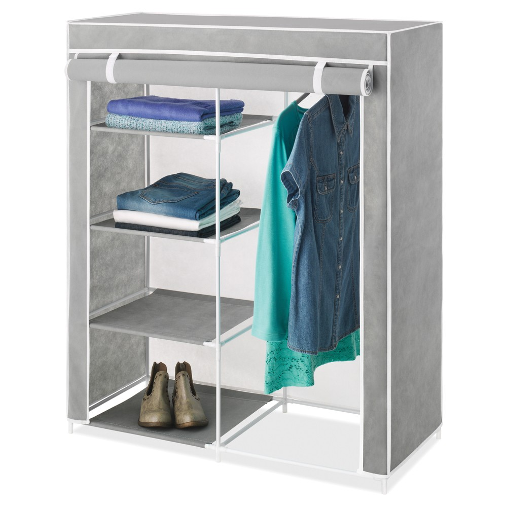 Image of Whitmor Freestanding Closet With Gray Cover