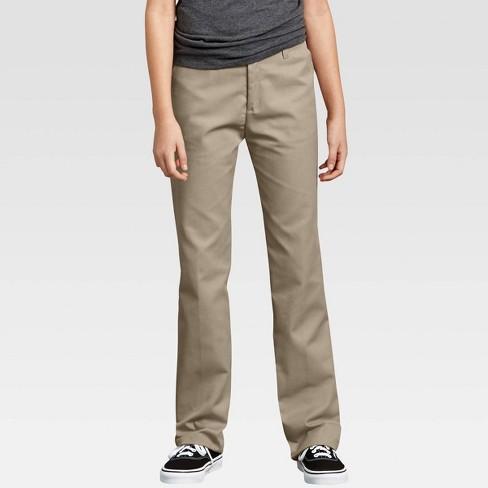 Dickies Girls Flex Waist Flat Front Pant