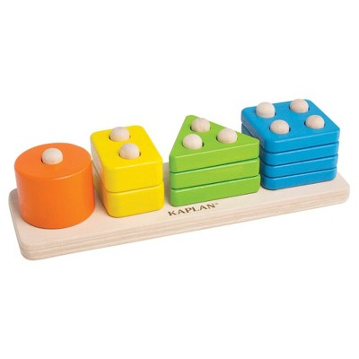Guidecraft Toddler Wooden One to Four Counter