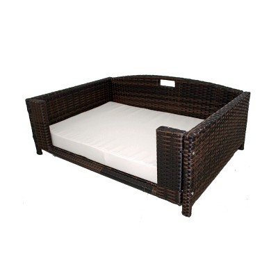 Iconic Beds for Dogs and Cats - Rattan Rectangular Sofa - Brown