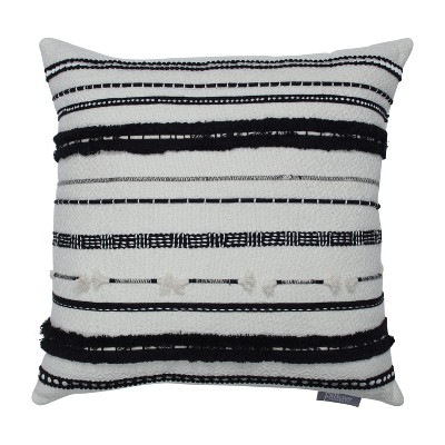 Line Works Square Throw Pillow Black/White - Pillow Perfect