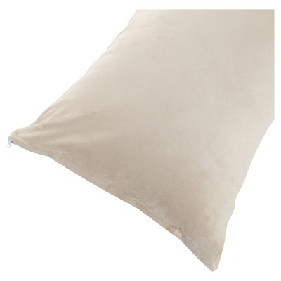 Soft Microsuede Body Pillow Cover (51.5 x17 )Ivory - Yorkshire Home®